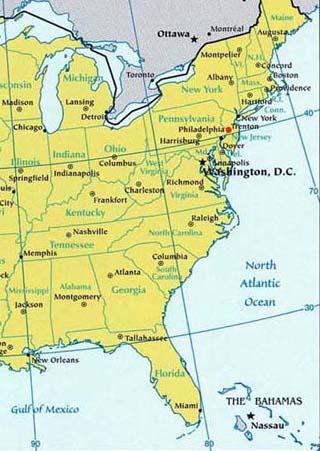 new jersey latitude longitude map