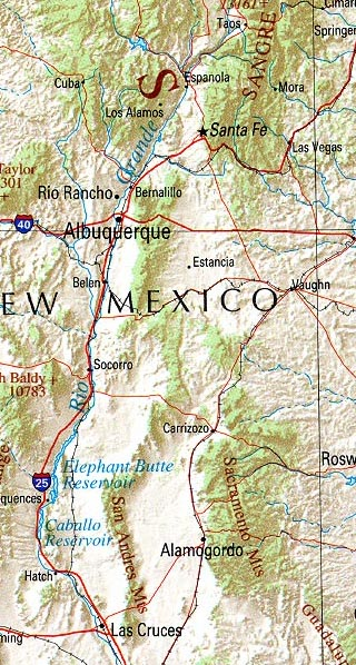 new mexico maps