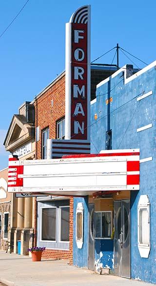 theater sign north dakota