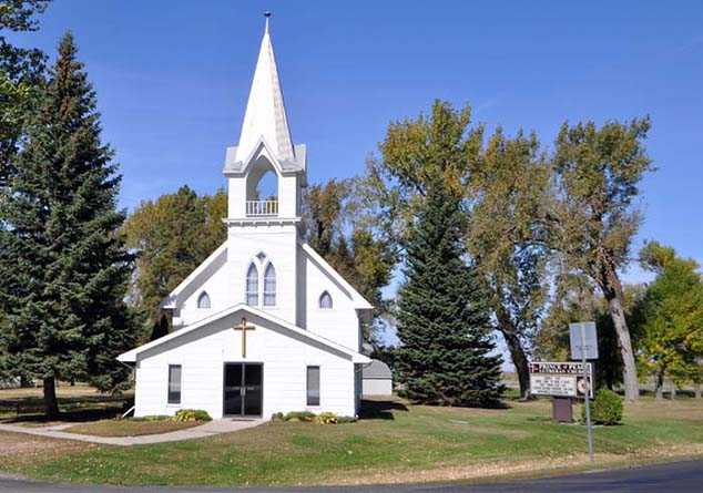 small town church north dakota