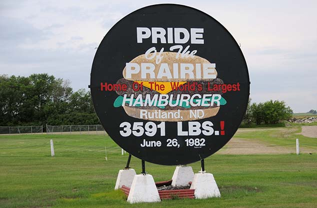 biggest hamburger rutland north dakota