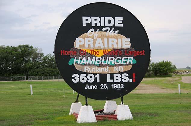 biggest hamburger rutland north dakota