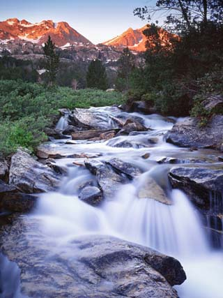 Stream Runs Through Lamoille Canyon in the Ruby Mountains, Nevada, Usa