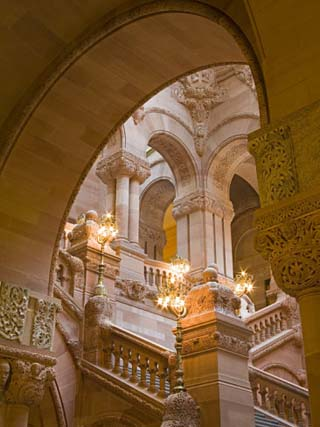 Million Dollar Staircase, State Capitol Building, Albany, New York State, USA