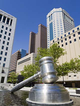 Gavel Sculpture Outside the Ohio Judicial Center, Columbus, Ohio, United States of America, North A