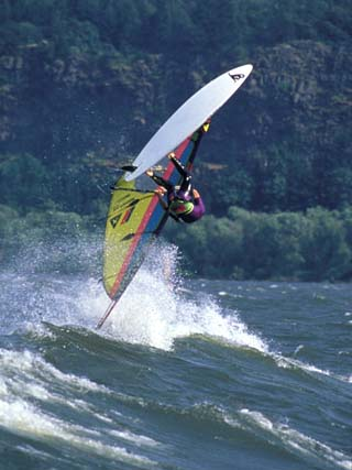 Windsurfing in Hood River, Oregon, USA