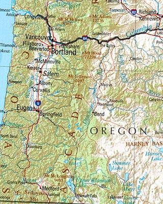 maps of oregon