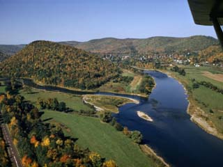 Branches of Delaware River Converge at Pennsylvania-New York Border