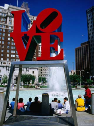 Sculpture in Love Park, Philadelphia, Pennsylvania