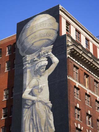 Mural on Arch Street, Philadelphia, Pennsylvania, United States of America, North America