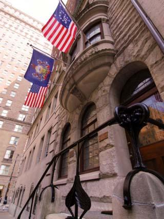 Flying Flags in Rittenhouse Square, Philadelphia, Pennsylvania, UA