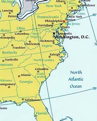 lat log map of pennsylvania
