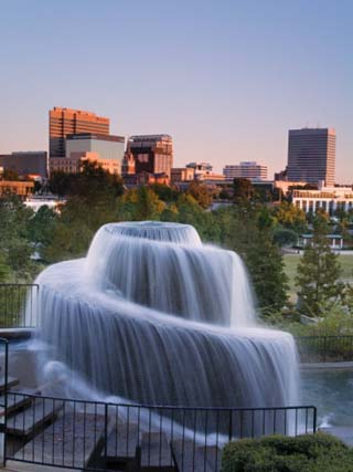 Finlay Park Fountain, Columbia, South Carolina, United States of America, North America