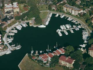 Aerial View of Hilton Head Harbour Town, South Carolina, USA