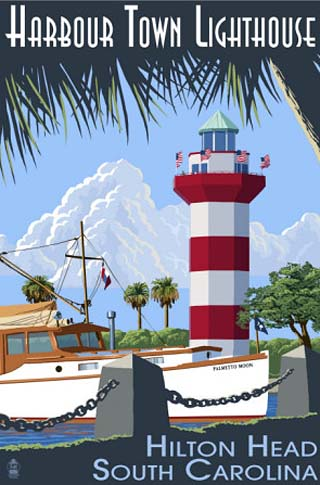Hilton Head, South Carolina - Harbour Town Lighthouse