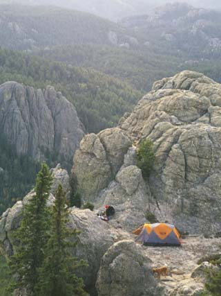 Camping on Harney Peak in the Black Hills