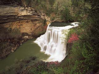 View of Burgess Falls, Burgess Falls State National Park, Tennessee, USA