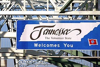 tennessee welcome sign