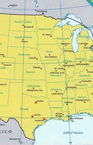texas latitude