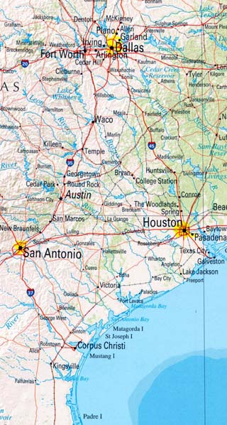 Texas Maps Including Outline And Topographical Maps