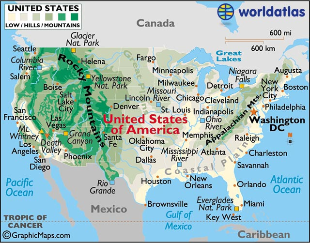 us relief map