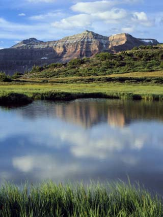 Kings Peak Massif Reflected, High Uintas Wilderness, Utah, Usa