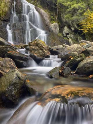 Moss Glen Falls, Vermont, New England, United States of America, North America