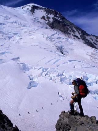 Emmons Glacier on Mt. Rainier, Washington