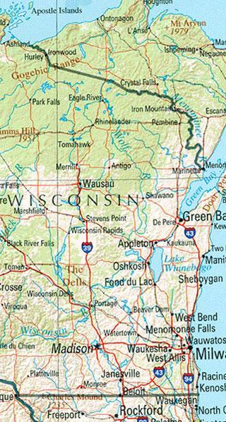 wisconsin maps