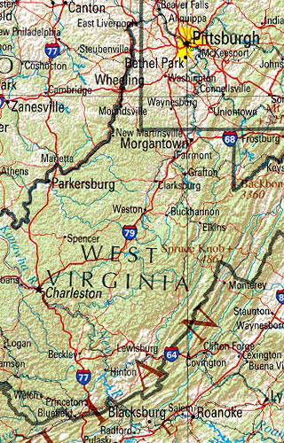 west virginia maps