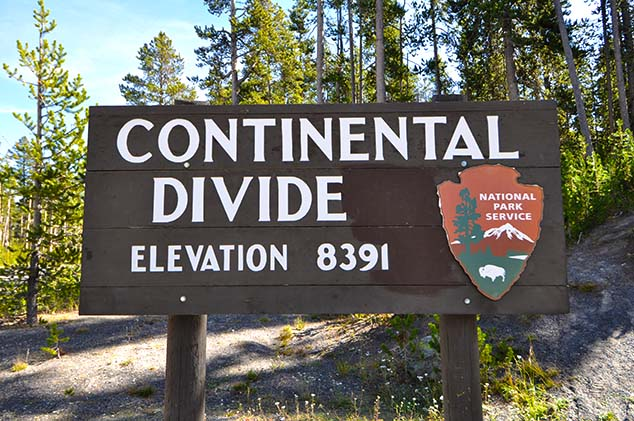 continental divide yellowstone