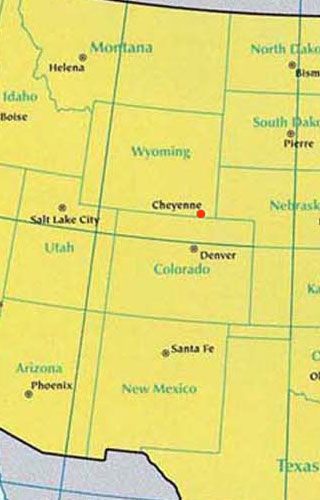 wyoming latitude and longitude