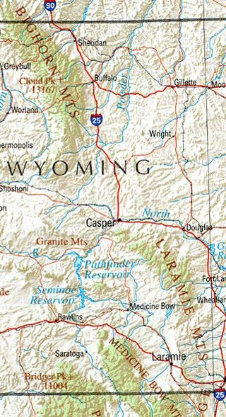 wyoming maps