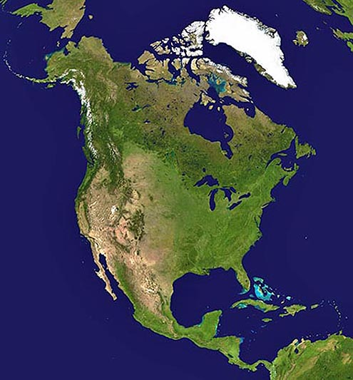 north america satellite view