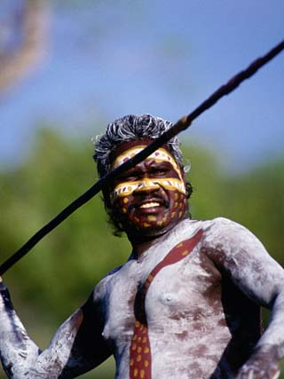 Aboriginal with Spear, Darwin, Northern Territory, Australia