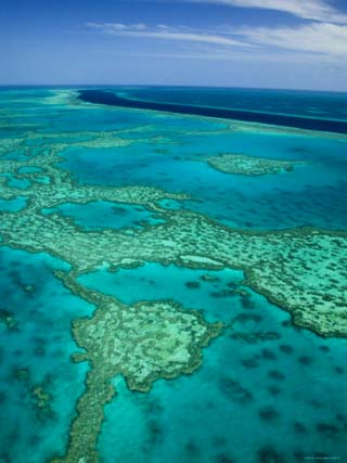 Australia, Queensland, Whitsunday Coast, Great Barrier Reef, Aerial View