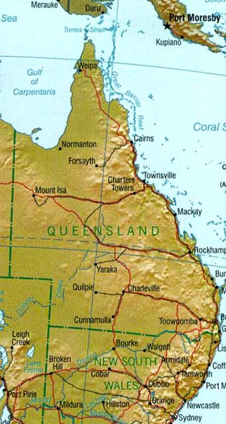 clipart map of queensland - photo #18