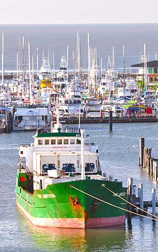 boat in harbor australia