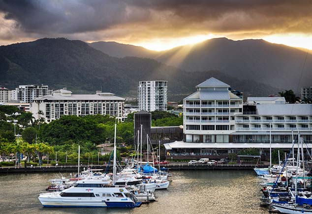 sunset cairns australia