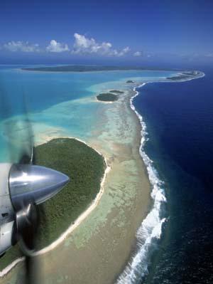 Lagoon and Beach, Aitutaki, Cook Islands