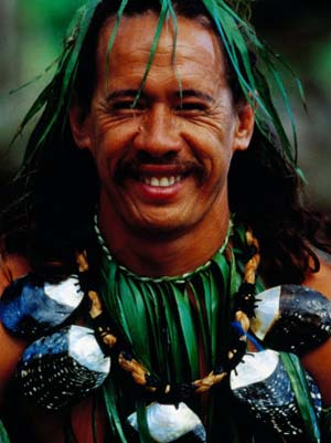 Portrait of Traditonal Dancer, Cook Islands