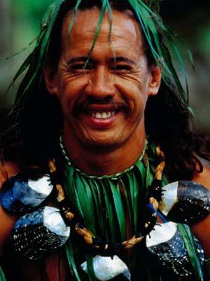 Portrait of Traditonal Dancer, Cook Islands