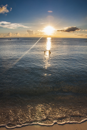Sunset in Guam, Us Territory, Central Pacific, Pacific