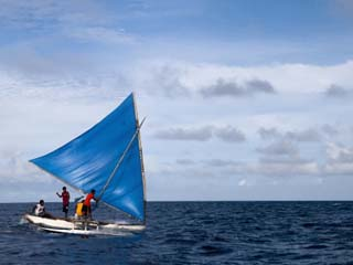 Traditional Outrigger Canoe, Jaluit Lagoon, Jaluit Atoll, Marshall Islands