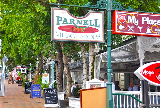parnell shopping area auckland