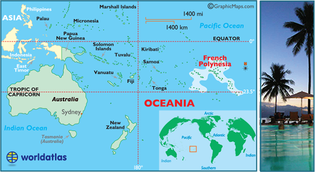 locator map of French Polynesia