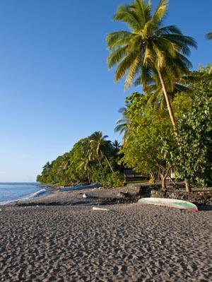 Beach on Savo Island, Solomon Islands, Pacific