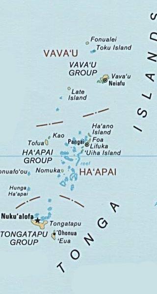 Tonga map