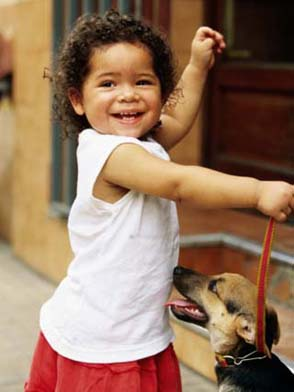 Young Girl with Puppy at Sunday Market, Mataderos, Buenos Aires, Argentina