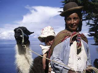 Aymara Indians Isla Del Sol Lake Titicaca, Bolivia